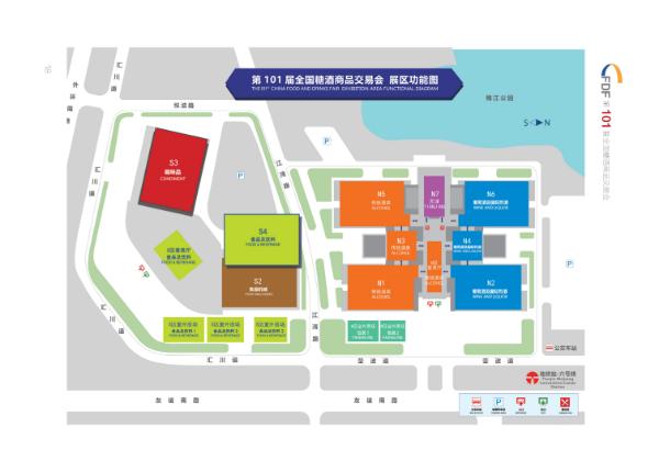 会展中心平面图 整体